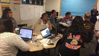 math professional learning session photo